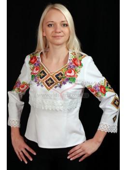 Вышитая рубашка Летний букет 32