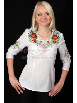 Жіноча сорочка вишита Мак з фіалкою 29