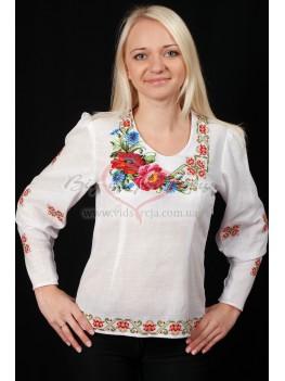 Вишита сорочка жіноча Мак з волошкою 30