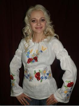 Жіноча вишита сорочка Маки і ромашки 28