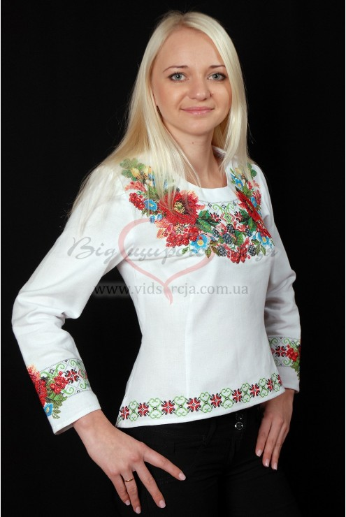 Сорочка вишита жіноча Осінні барви 27 фото