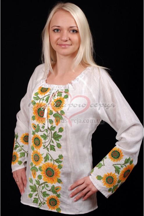 Сорочка жіноча вишита Соняхи 26 фото
