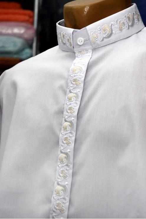 Вишита сорочка для священника 1007 фото