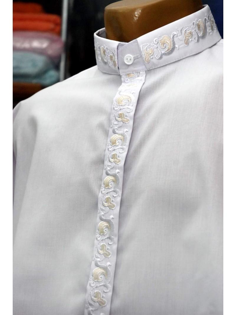 Вишита сорочка для священника 1007 – купити в Києві 04221f48f3fdd