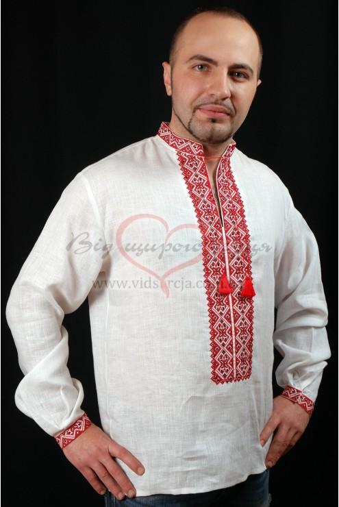 Рубашка вышиванка мужская 002 фото