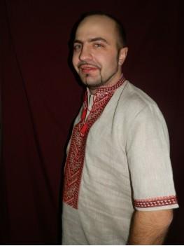 Рубашка этническая мужская 015