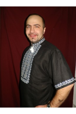 Мужская рубашка вышиванка 020 фото