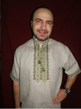 Сорочка чоловіча національна Зелений розмай