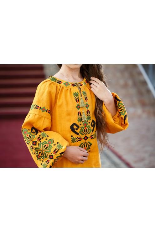 Дитяче вишите плаття Яскраві барви