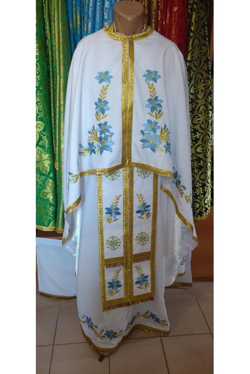 Фелон для священнослужителя з машинною вишивкою Ф24