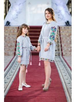 Комплект одягу для мами й доні Мальованка