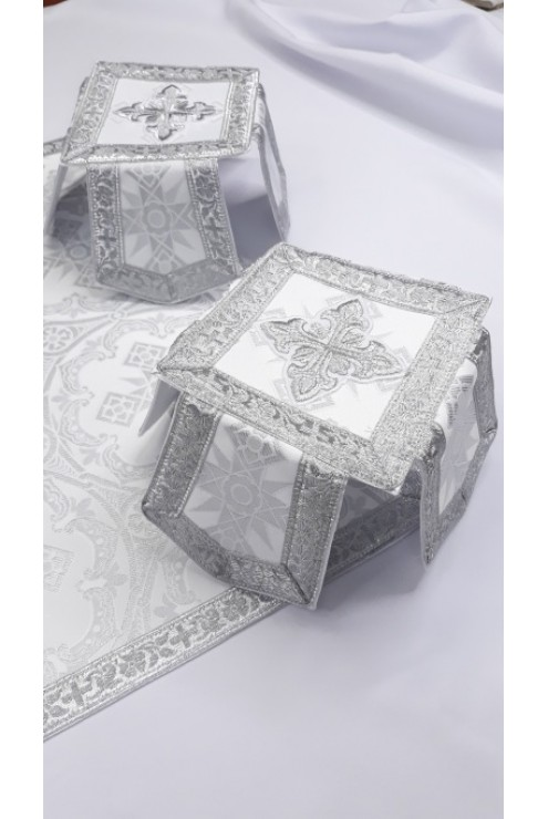 Фелон Ф 2196 білий в сріблі