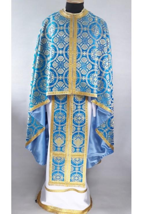 Фелон з парчі 1806 блакитний