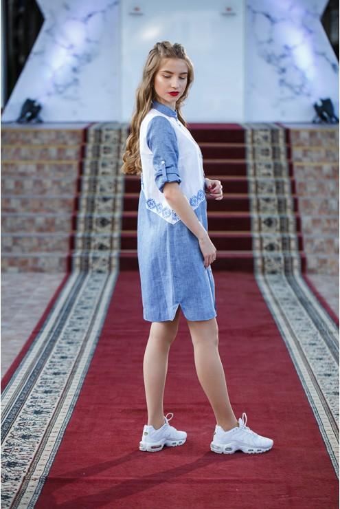 Джинсове плаття-сорочка