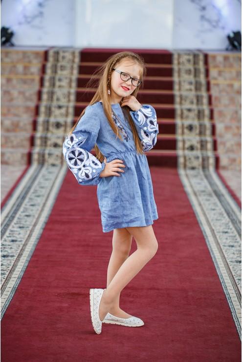 Плаття-туніка вишита джинсова