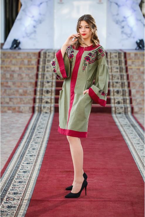 Плаття вишите Бордо