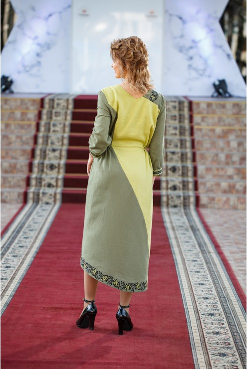 Сукня вишита Салатова фантазія