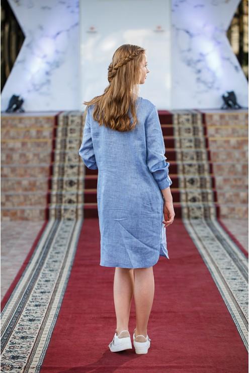 Сукня-вишиванка джинсова